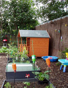 A childen's allotment space