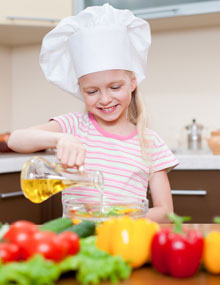 Child enjoying cooking