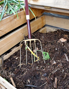 Fork in a compost heap
